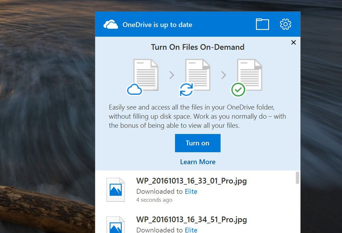 files on demand Windows 10 Fall Creators Update