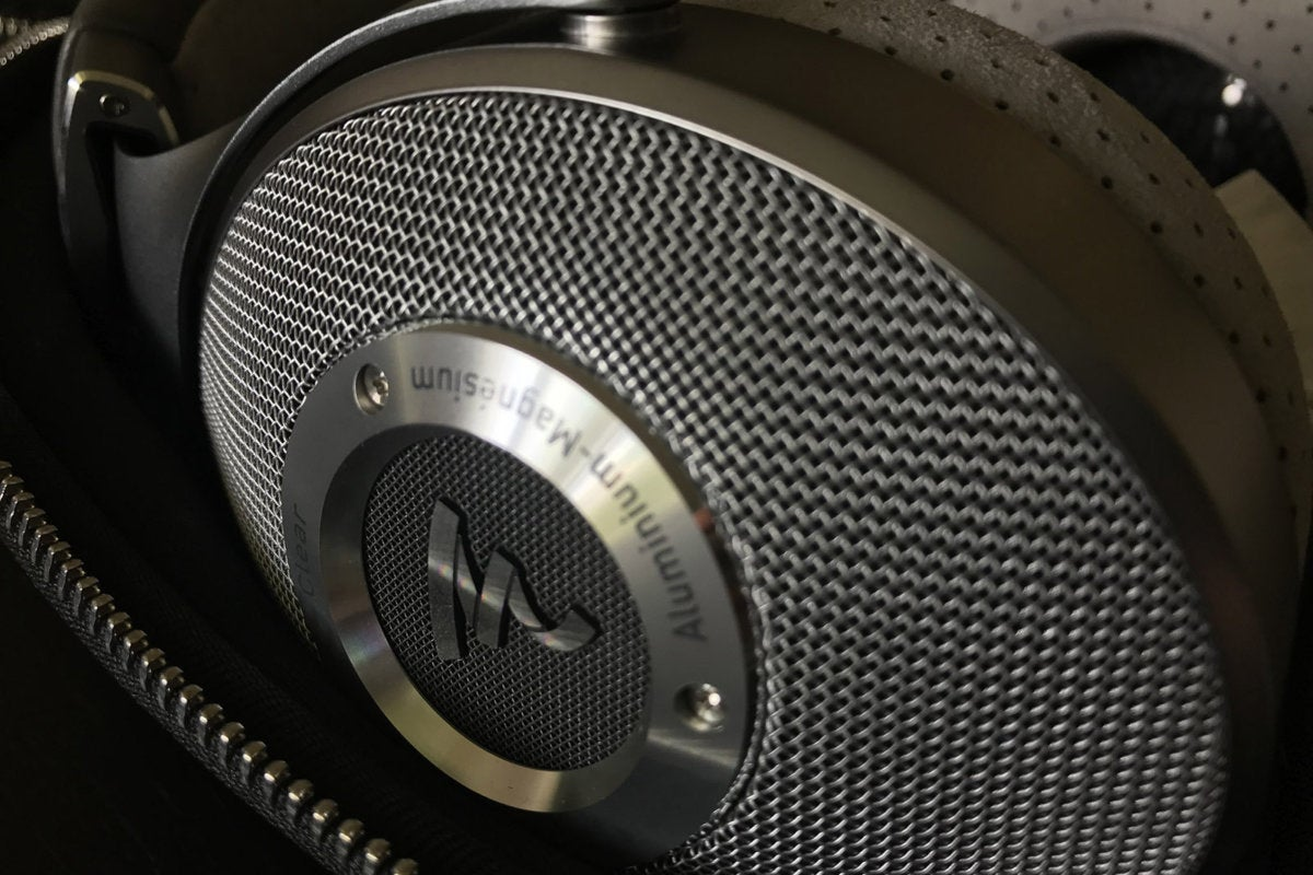 Detail of the Focal Clear's open back ear cup.