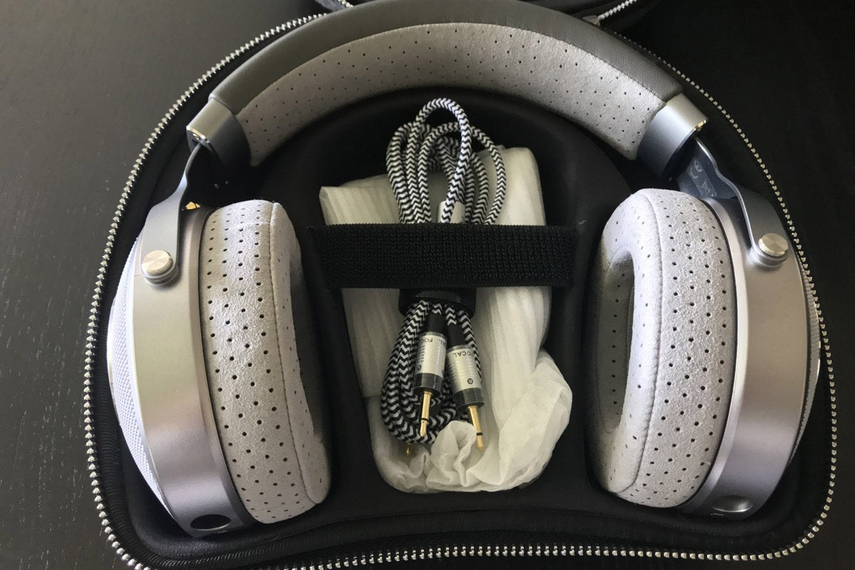 The Clear's case fits the headphones perfectly with room for any of the included cable accessories.