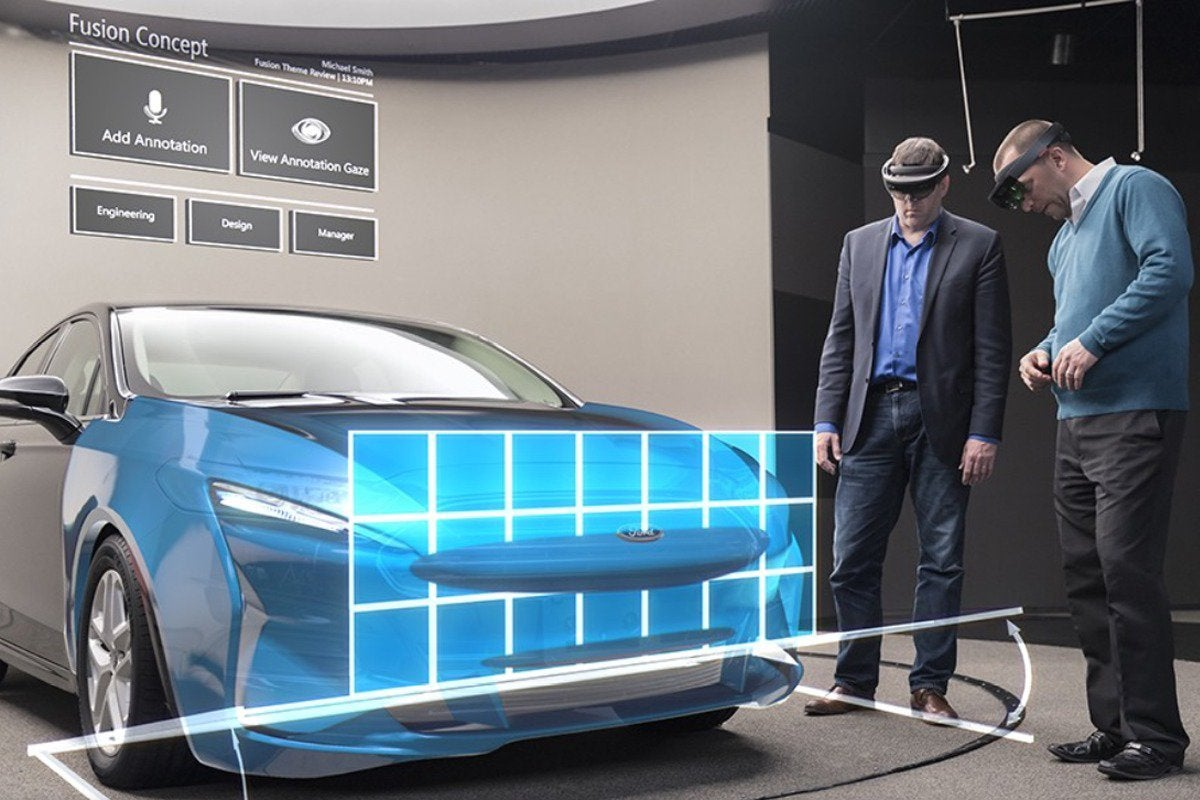 Ford HoloLens car design