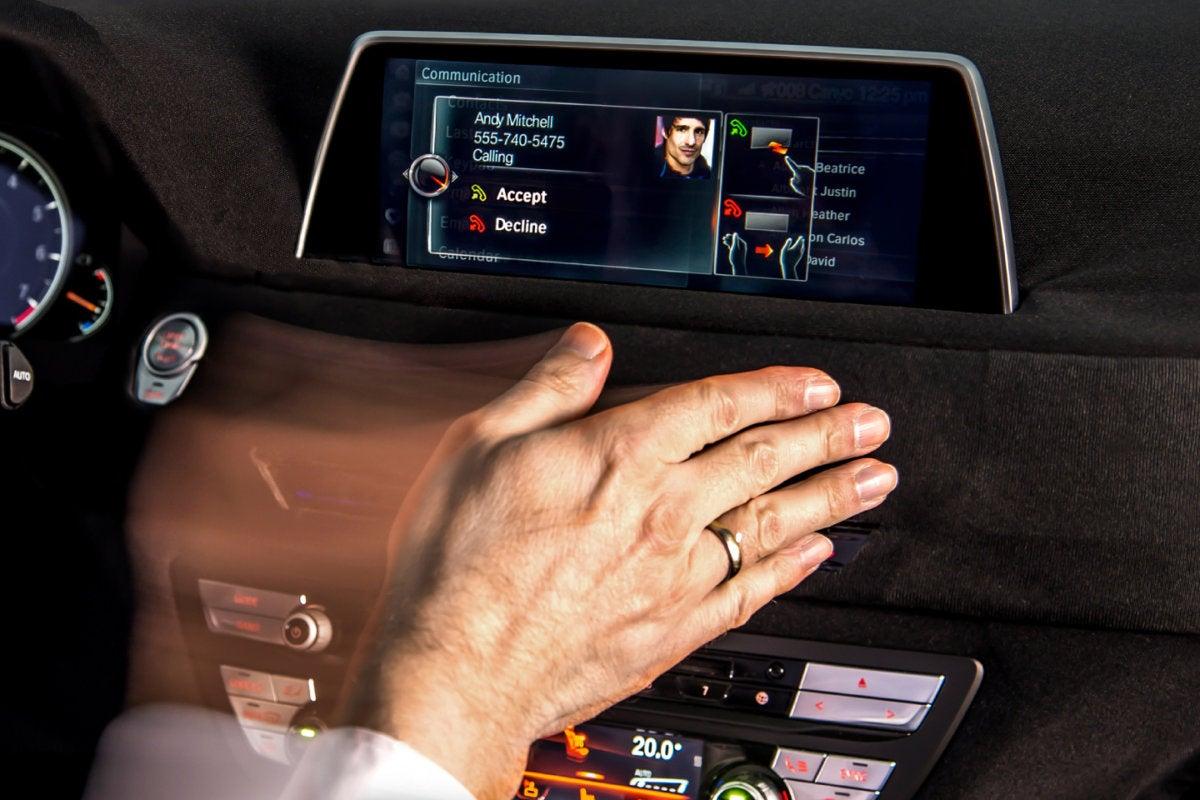 gesture control - smart car - BMW