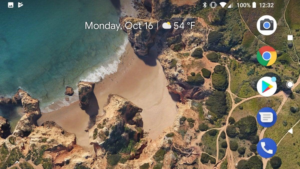 google pixel rotate home screen