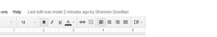 Google Drive collaboration - edit tracking