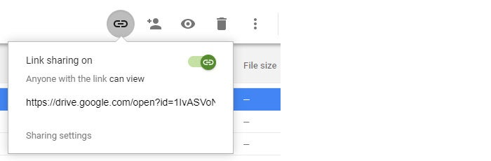 Google Drive collaboration get public sharing link