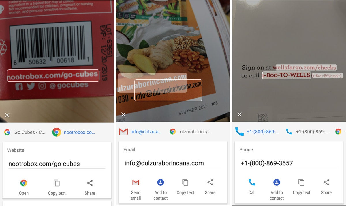 google lens links