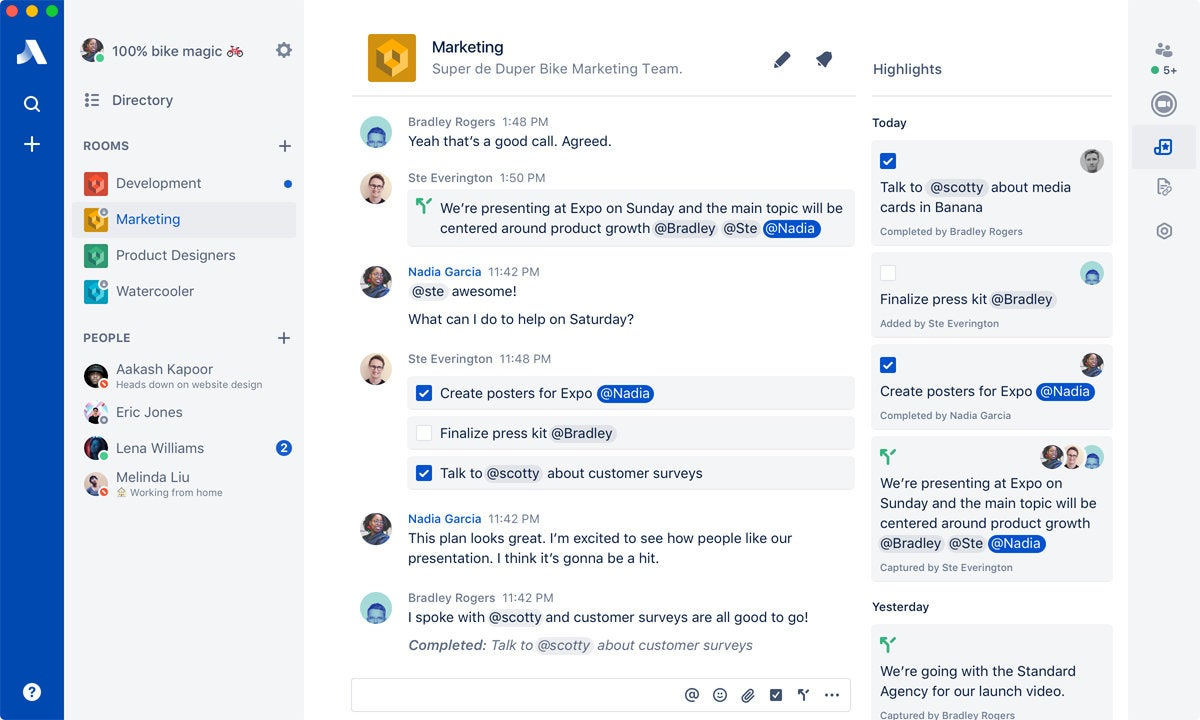 group chat services Atlassian Stride