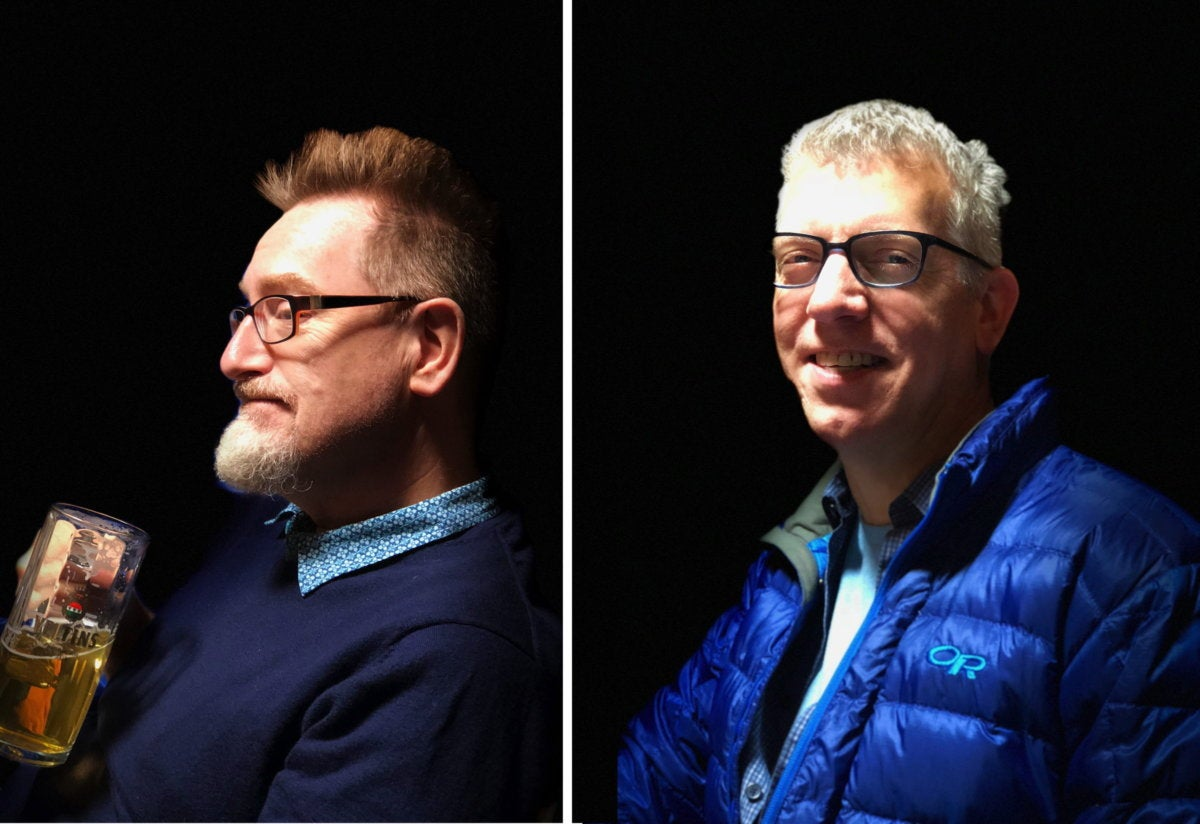 how to shoot portraits side by side