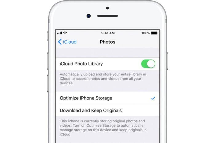 Wie optimiert sich der iPhone-Speicher mit der iCloud Photo Library