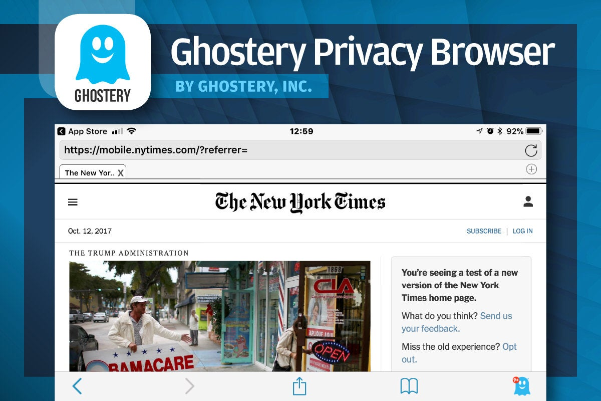 Alternative iOS Browsers - Ghostery Privacy Browser