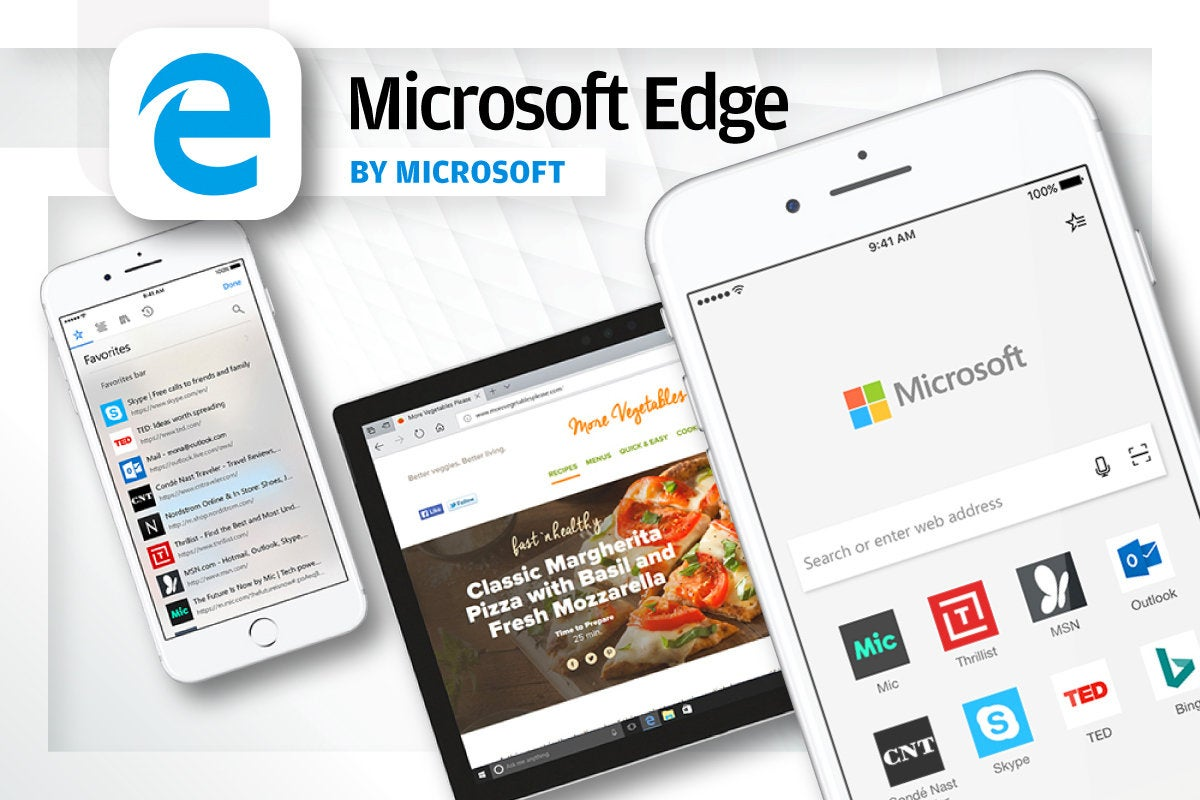 Alternative iOS Browsers - Microsoft Edge