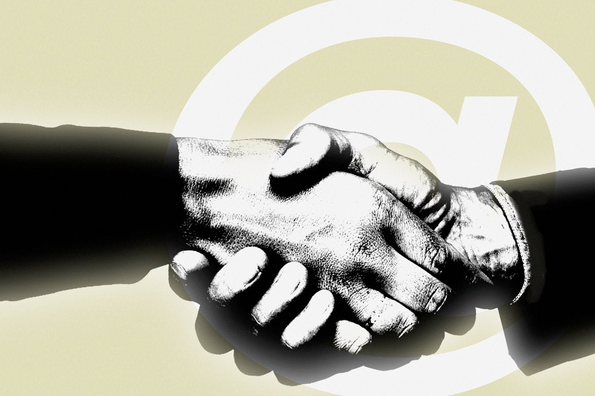 leader contract vendor deal teamwork handshake