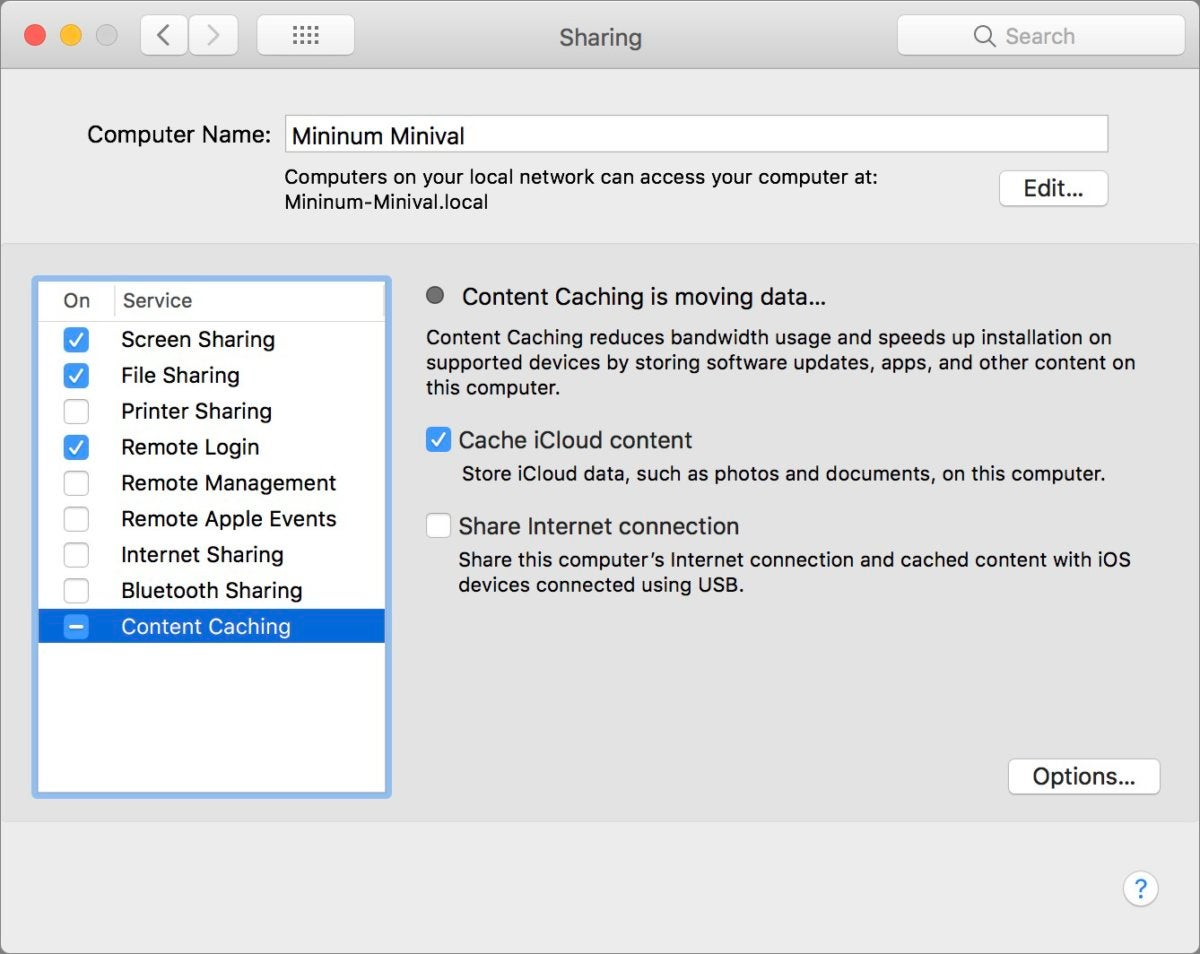 mac911 content caching