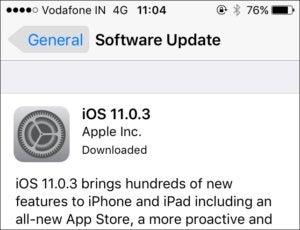 """Der Unterschied zwischen """"Downloaded"""" und """"Install"""" bei iOS-Updates"""
