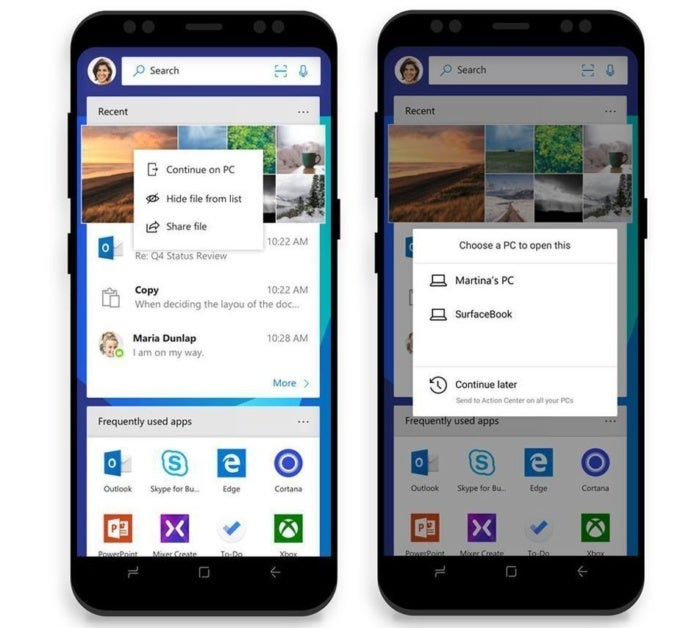microsoft launcher continue on pc