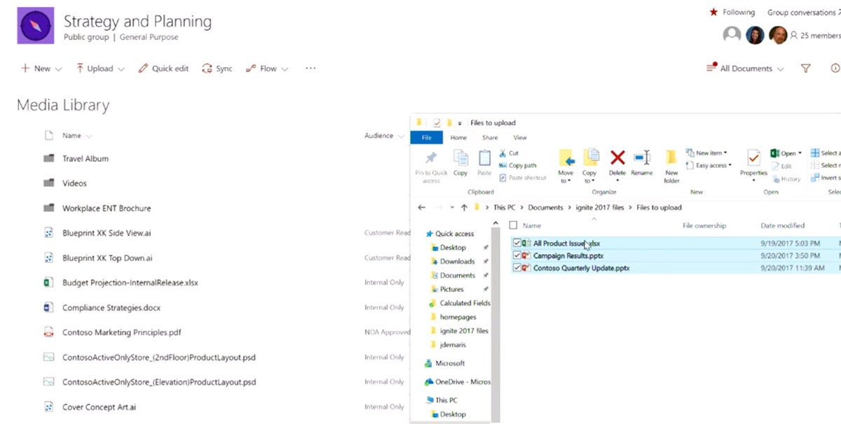 multiple files to drag into sharepoint