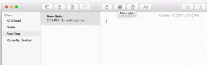notes high sierra create table1
