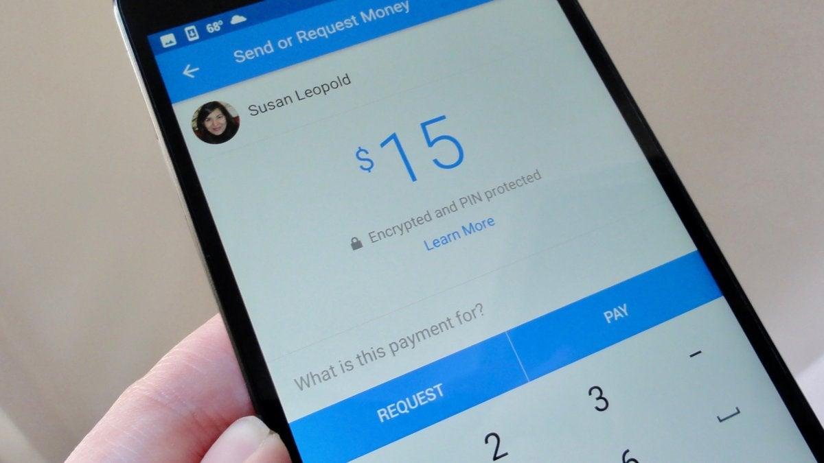 Facebook Messenger payments screen