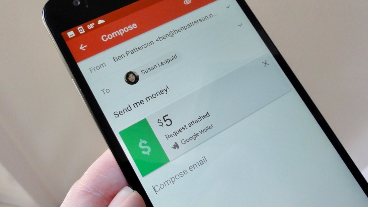 Google Wallet Gmail payment