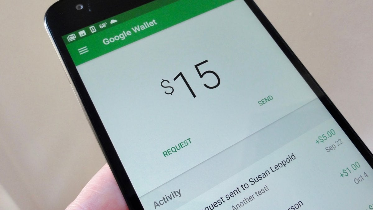 Google Wallet Main Interface