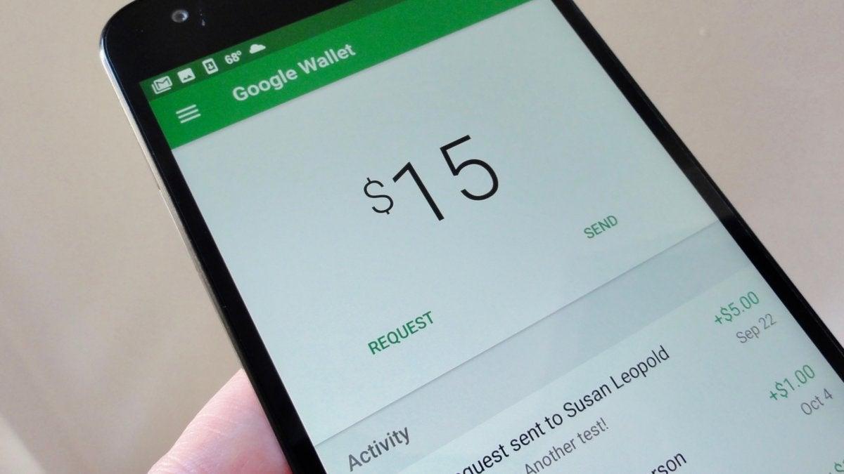 Google Wallet main interface