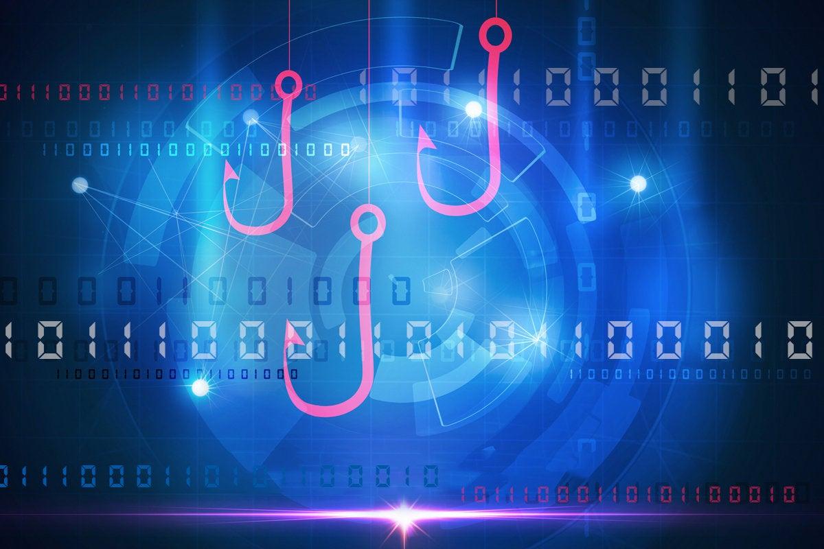 phishing hack scam malware binary code