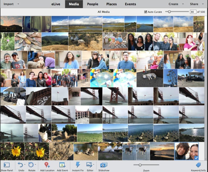 Photoshop Elements 2018 Auto Curate