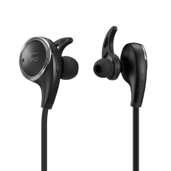 ed86f3fa54b 60% off TaoTronics Bluetooth Sweatproof Earbuds With Built in Mic - Deal  Alert