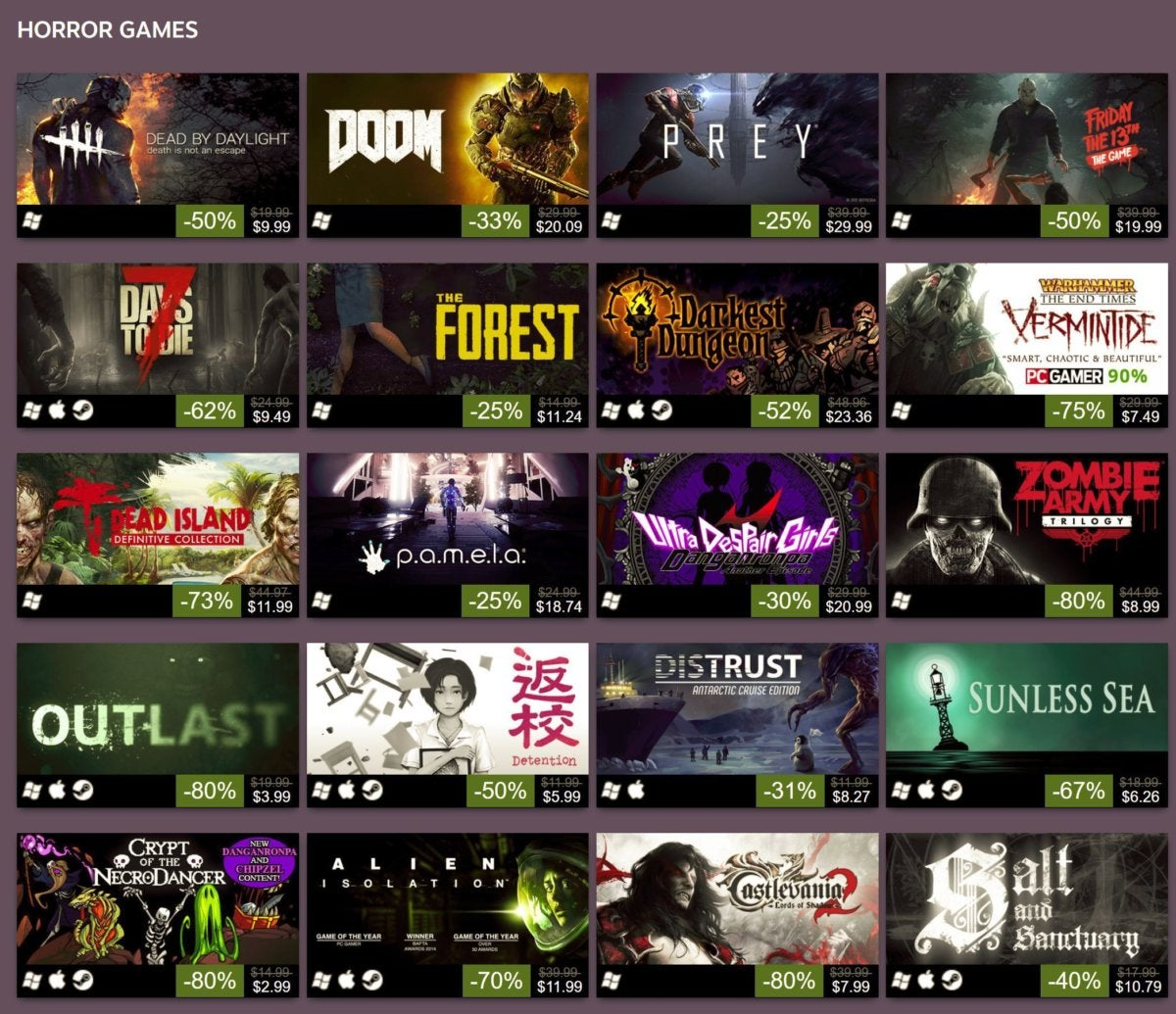 steam halloween sale games