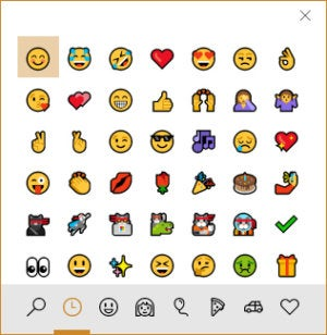 Windows 10 Fall Creators Update - new emoji
