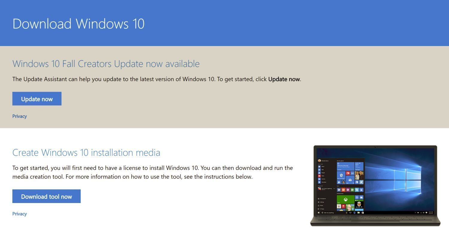 how to download the windows 10 fall creators update right