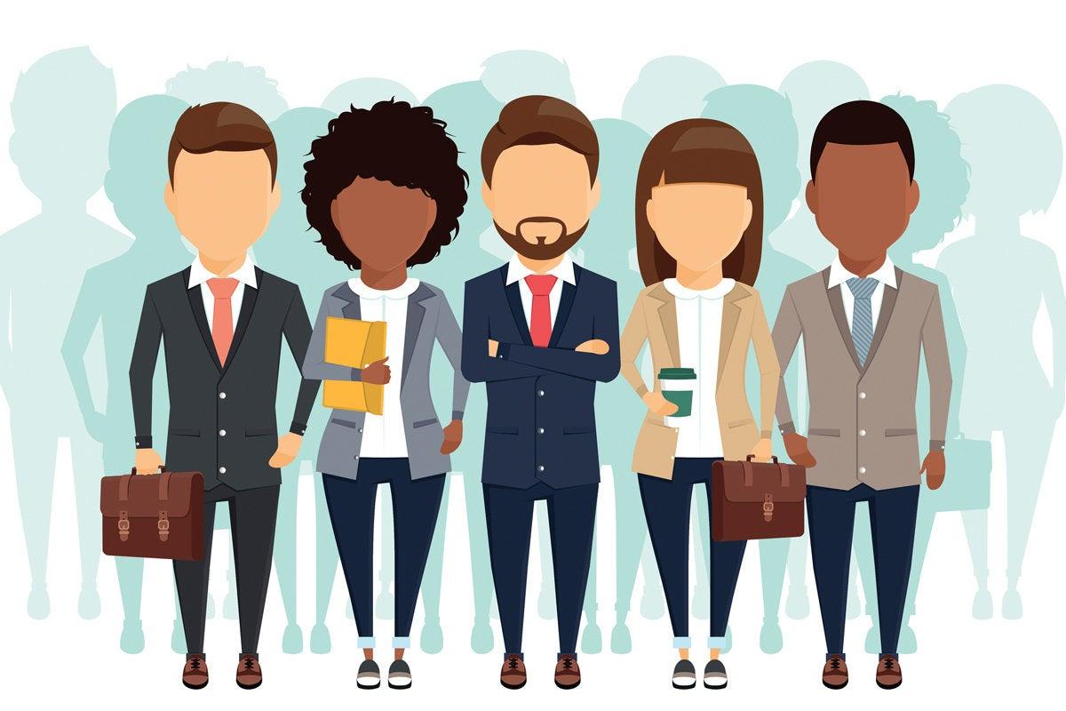 woman leader hipster execs diversity