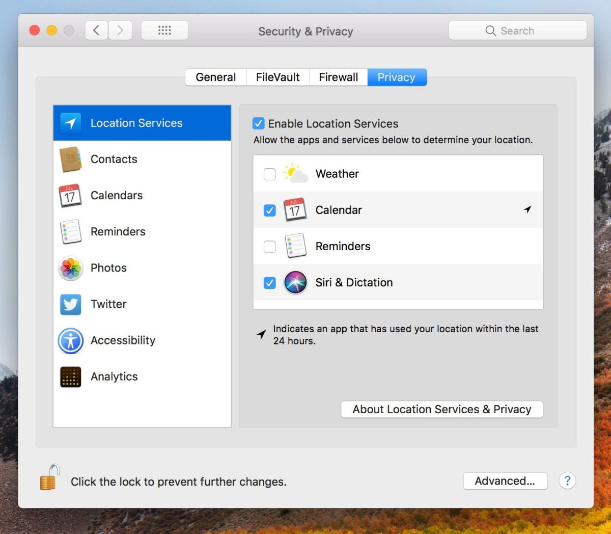 Mac dialogue window