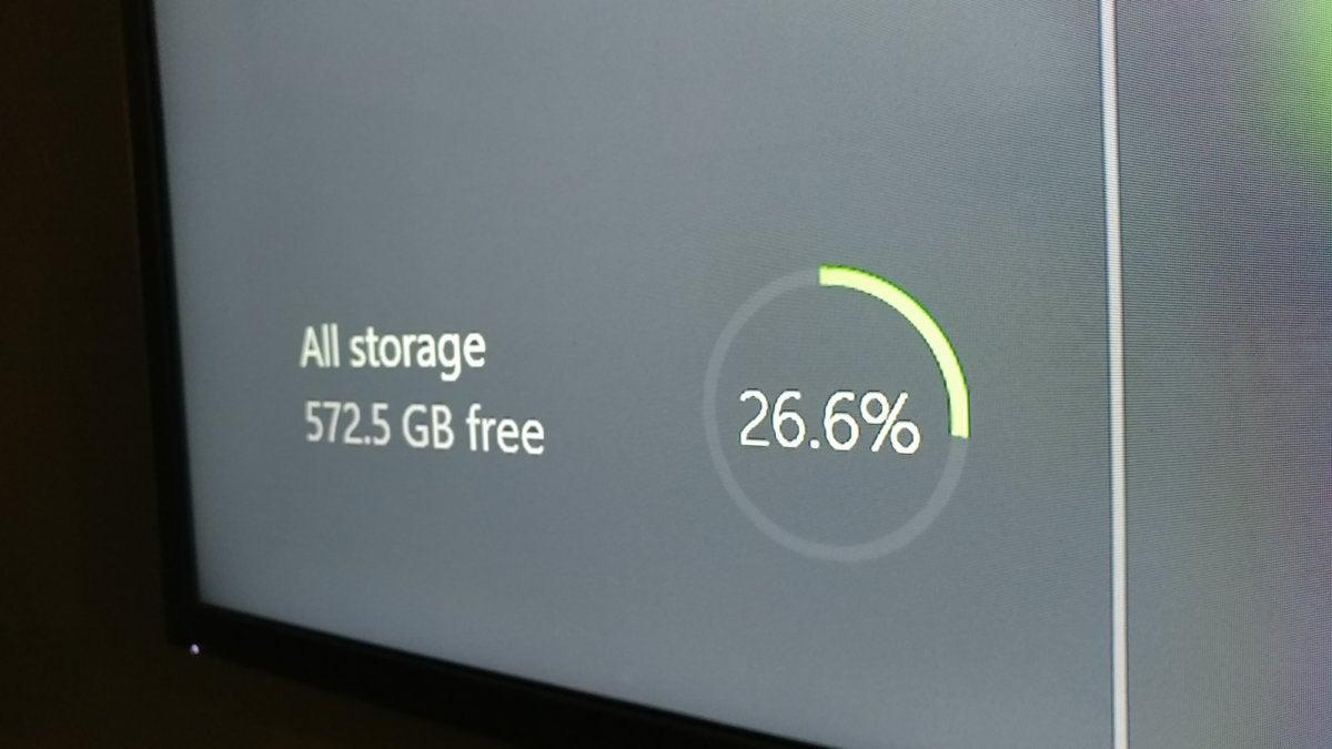 Xbox One X - Storage