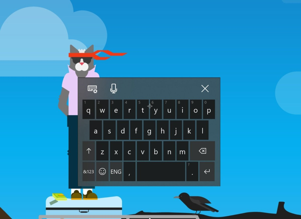 Windows 10 Insider build 17035 acrylic keyboard