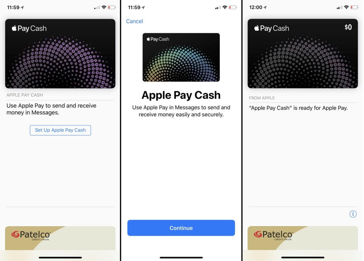 apple pay cash setup