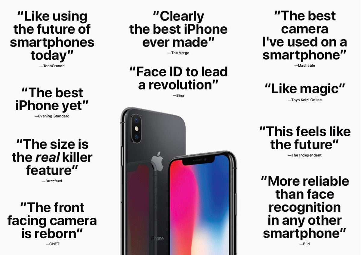 apple reviews iphone x