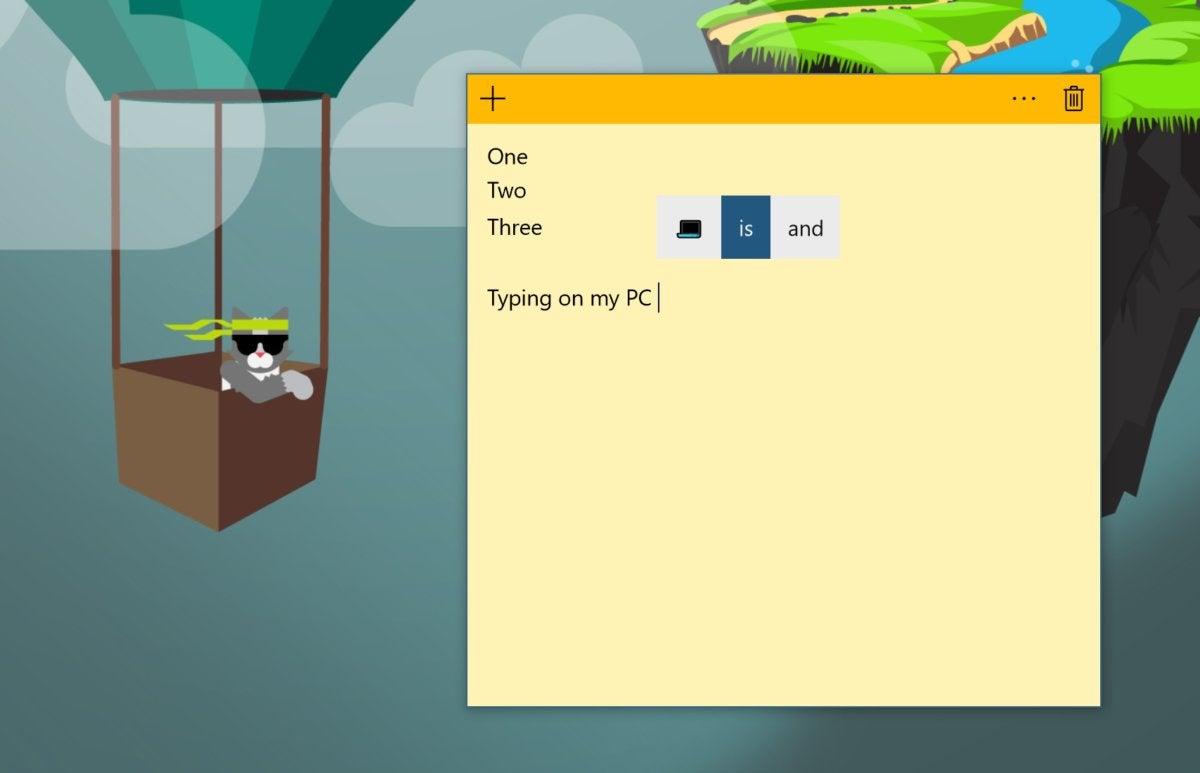 Windows 10 Insider build 17035 autosuggest