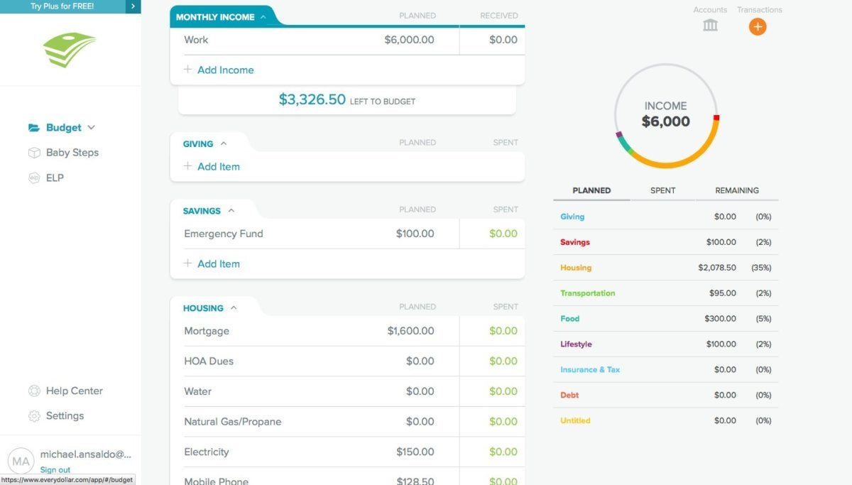 EveryDollar review: Baby steps to budgeting   PCWorld