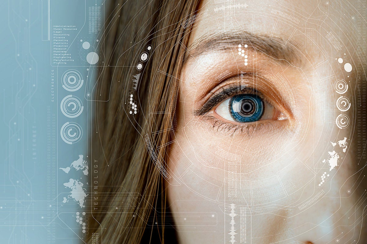 facial recognition - biometric security identification