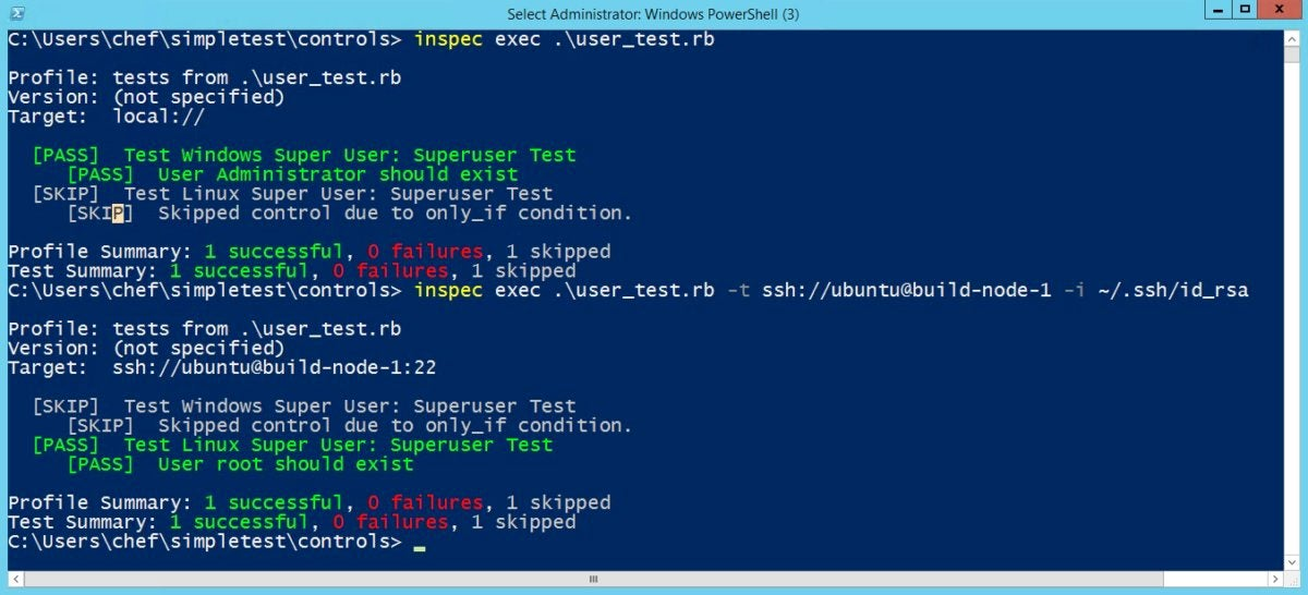 inspec tests
