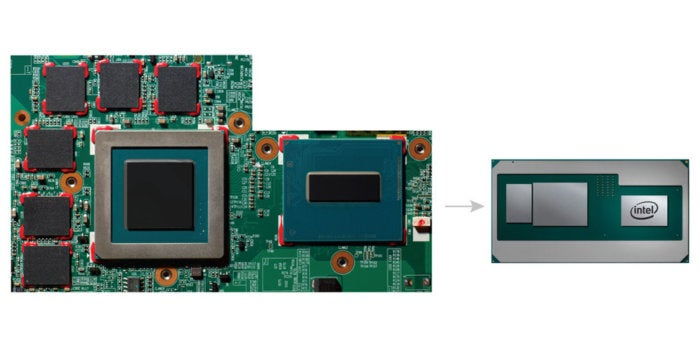 intel new 8th gen processor package size compare