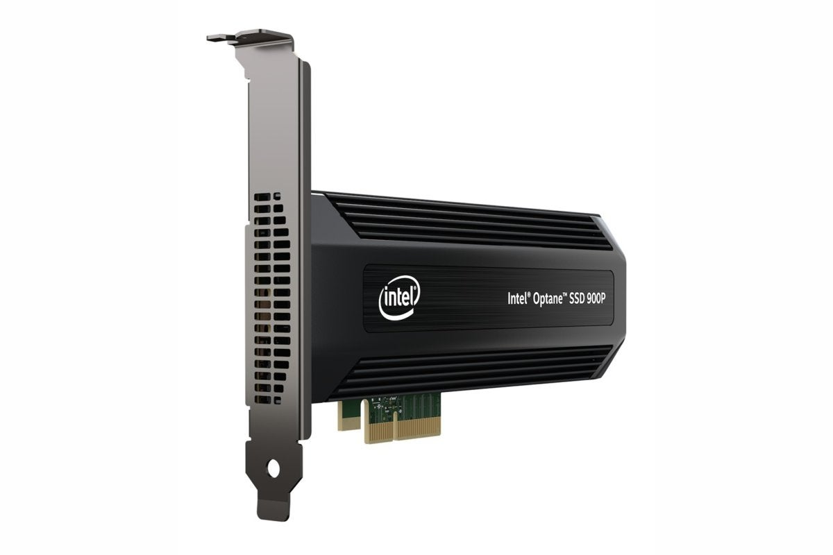 intel optane ssd 900p series aic left angle