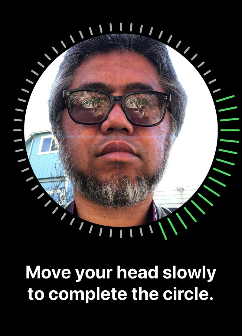 Iphone  Face Recognition Setup