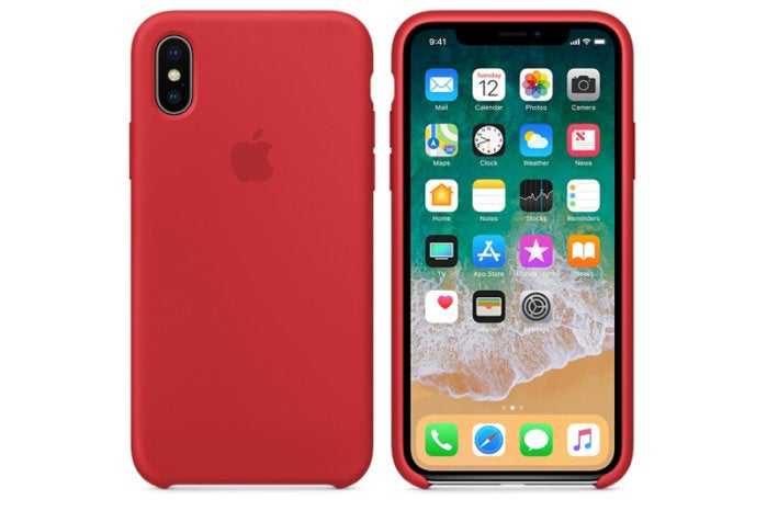 iphone x silicone product red