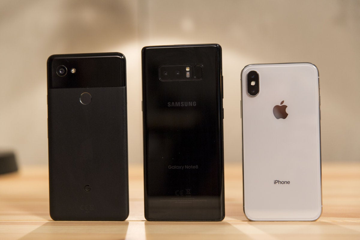 iphone x vs. android back2