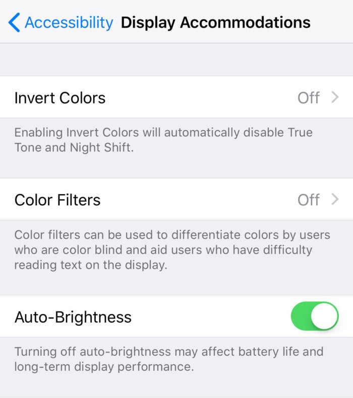 iphonex autobrightness