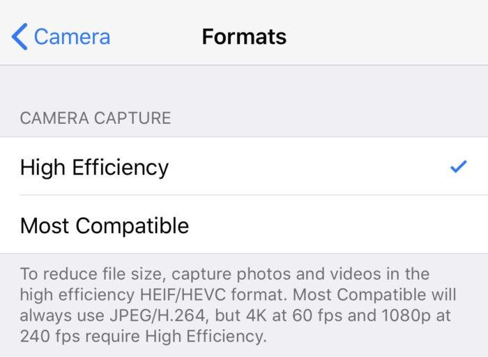 iphonex formats