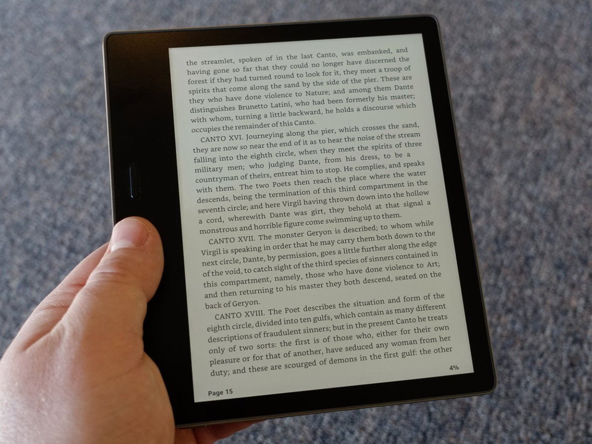 kindle oasis reading
