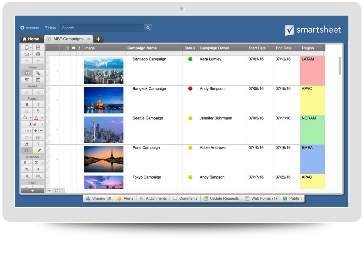 what is smartsheet a spreadsheet based project management tool