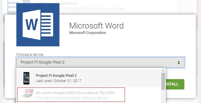 Microsoft Office Android Apps Chromebook